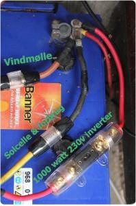 Batteri tilslutning solcelleanlæg