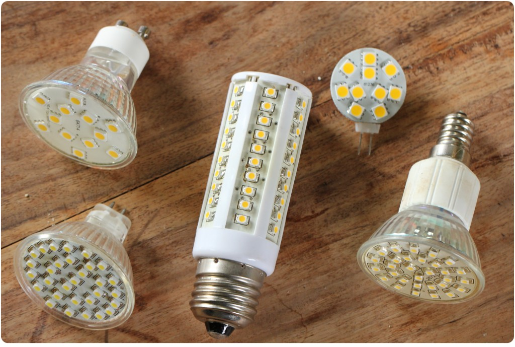 Mine forskelige 12v LED pærer