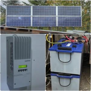 12v solcelleanlæg i kolonihave