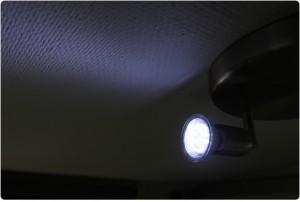 LED med blåt lys
