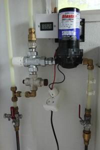 Skoldnings sikring og 12v pumpe